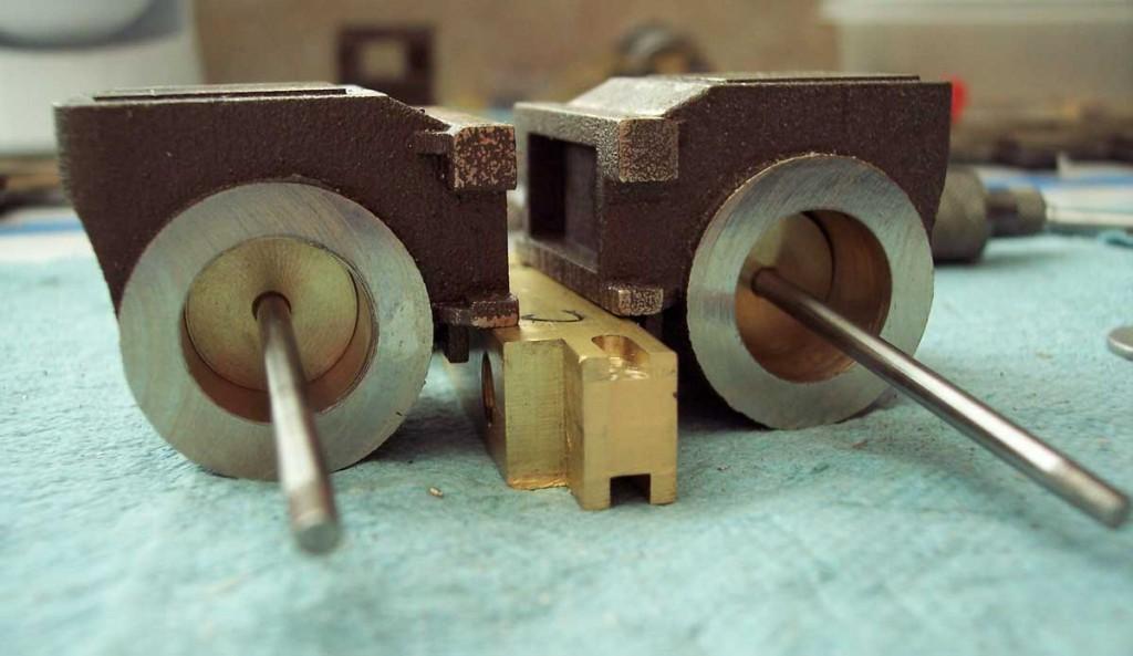 Machining the 3D printed cylinder blocks