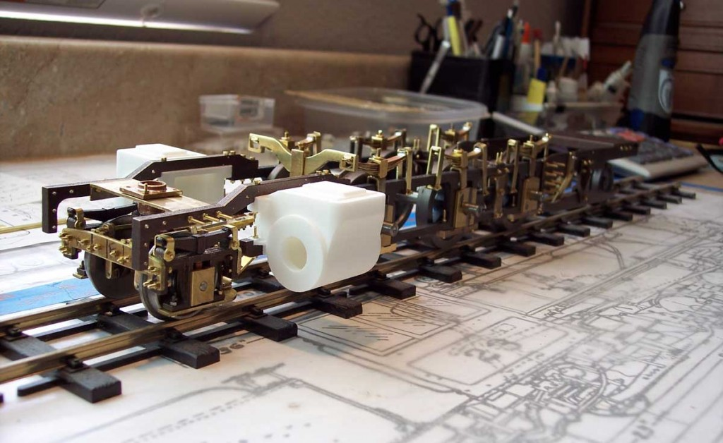 Progress with assembling the underframe