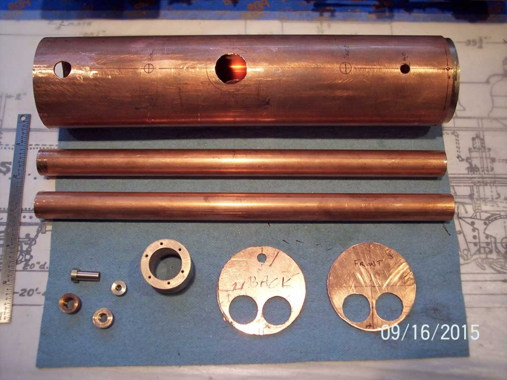 Preparing components for the boiler
