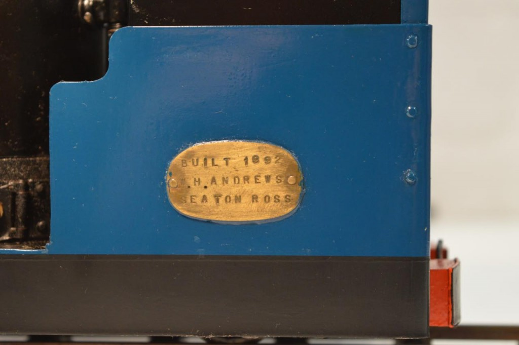 The maker's plate.