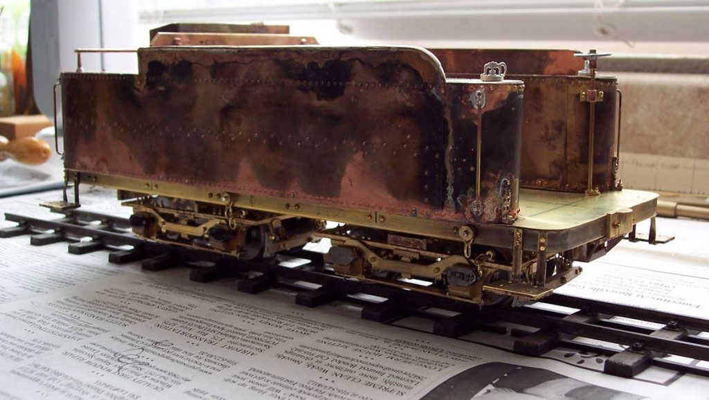 The completed tender awaiting painting