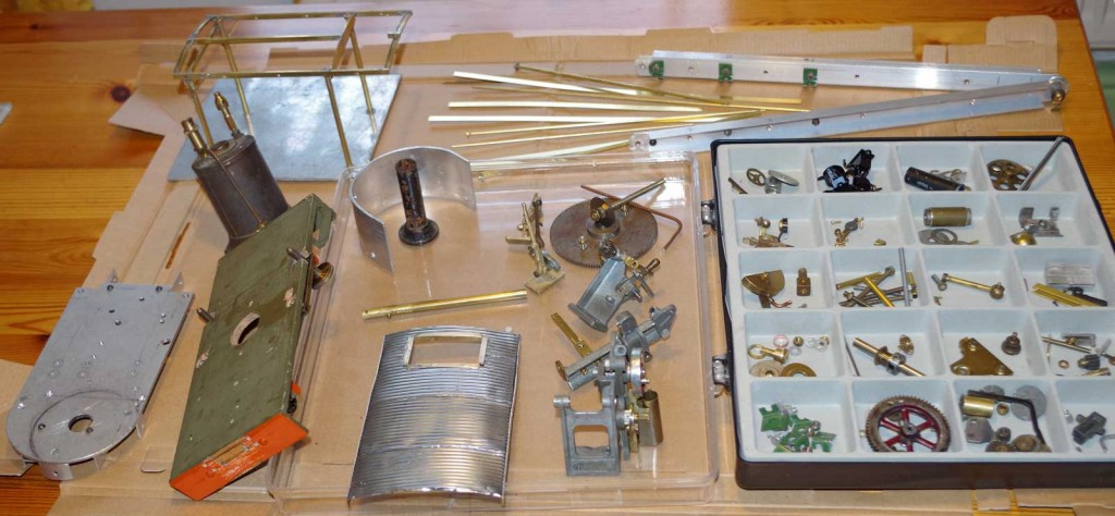 The array of bits used to make the crane wagon.