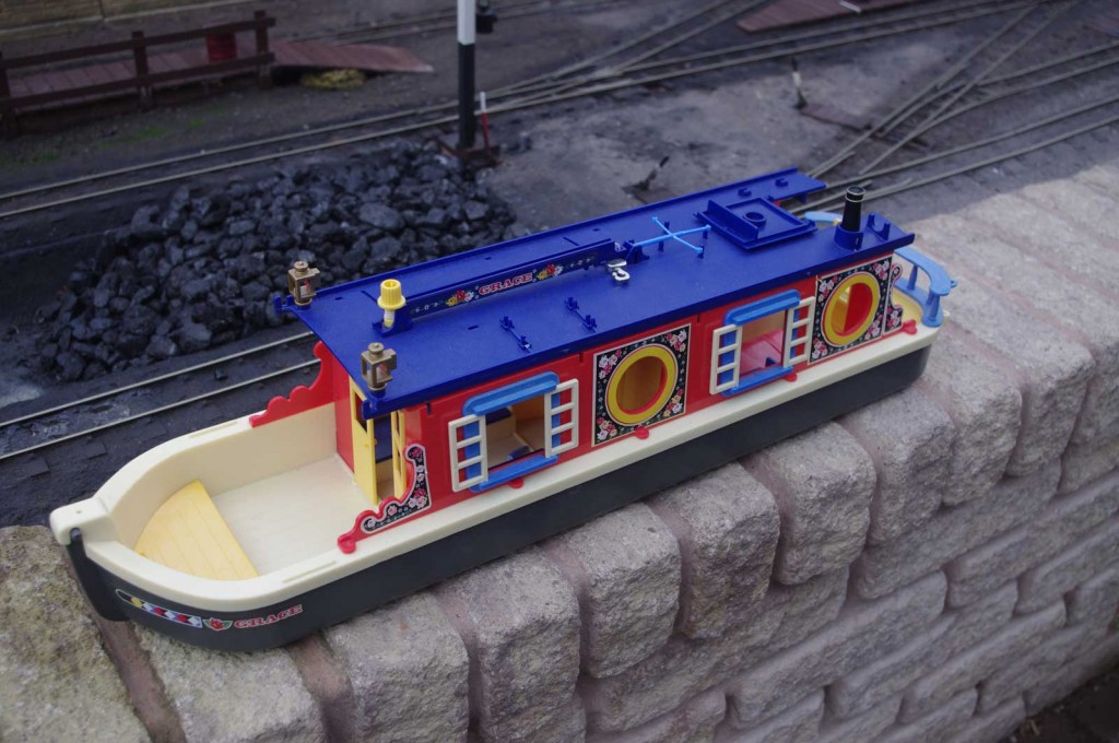 The Sylvanian Families barge, as purchased.