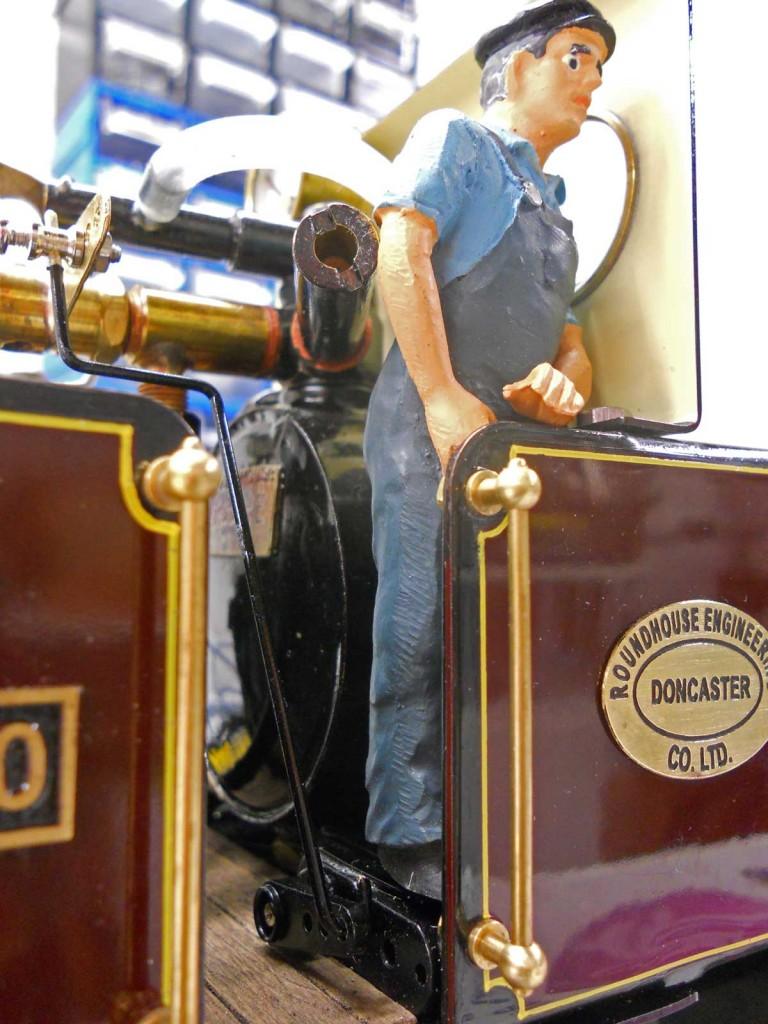 The driver stands on the regulator servo.