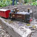 """Wilberforce"" approaches Pont Siriol, on the Elmdon Heath Light Railway."